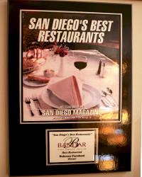2003 - SD Mag - Best Restaurants