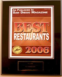 2006 - SD Mag - Best Restaurants