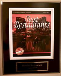 2007 - SD Mag - Best Restaurants