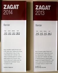 2013-2014 - Zagat Rating