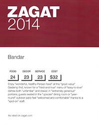 Zagat Award
