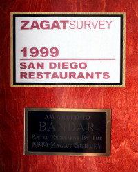 1999 - Zagat - Rated Excellent
