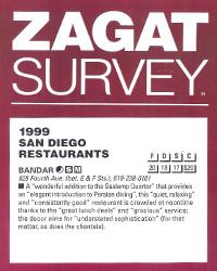 1999 - Zagat Survey