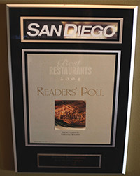 2004 - SD Mag - Best Restaurants