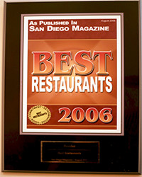 2006 - SD Mag - Best Restaurants
