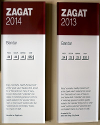 2013-2014 - Zagat Rating