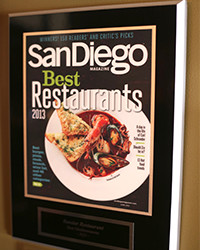 2013 - SD Mag - Best Restaurants
