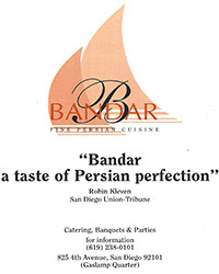 Quote - Bandar a taste of Persian perfection