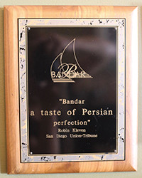 Quote - Bandar taste of Persian Perfection