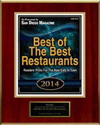Resized - 2014 - San Diego Magazine Award Plaque